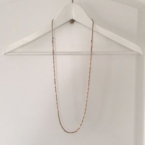 Madewell rose gold long necklace